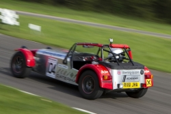 Caterham 7 at Curburough sprint course