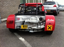 Caterham 7 after a bump at Brands Hatch