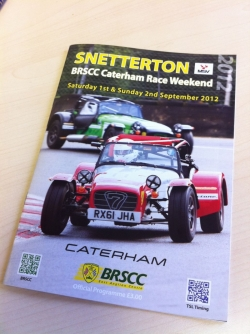 Snetterton race weekend programme